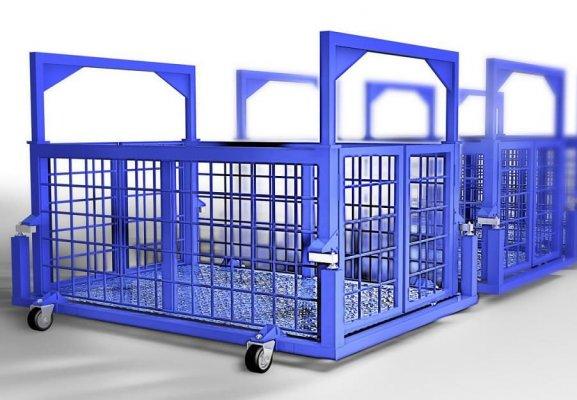 Весы с подвесной клеткой на колёсах для животных